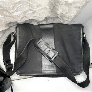 Coach 6411 Transatlantic Black Canvas laptop bag